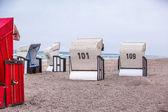 Cadeiras de praia branca — Foto Stock