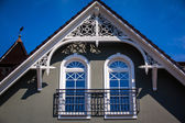White gable — Stock Photo