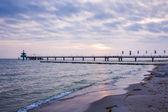 Cais no mar báltico — Foto Stock