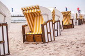 White beach chairs — Stock Photo