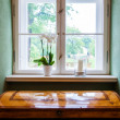 Decorated windowsill — Stock Photo #26800775