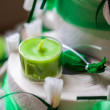 Stock Photo: Small green candle