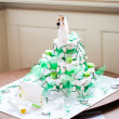 Fake wedding cake — Stock Photo