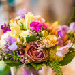 Purple wedding bouquet — Foto Stock