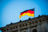 German nantional flag — Stock Photo
