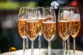 Champagne reception — Stock Photo