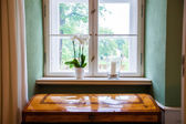 Decorated windowsill — Stock Photo