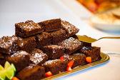 Pieces of chocolate cake — Stock Photo