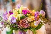 Purple wedding bouquet — Stock Photo