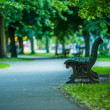 Park bench in Berlin — Stock Photo