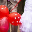 Three red balloons — Stock Photo #28281827