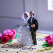 Bridal couple figurine — Stock fotografie