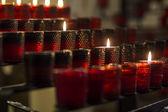 Burning candles — Stock Photo