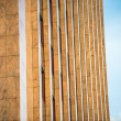 Modern beige facade in Berlin — Stock Photo