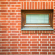 Redbrick wall with window — Stock Photo #28653833