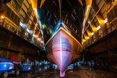 Huge ferry in a dockyard — Stock Photo