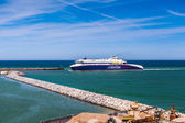 Ferry at Hirtshals in Denmark — Stock Photo