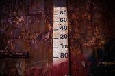 Metric leveling board — Stock Photo