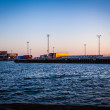 Cargo and gangway at the port in Hirtshals — Stock Photo