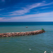 Stock Photo: Jetty at the North Sea