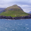 Lonely lighthouse on Faroe Islands — Stock Photo