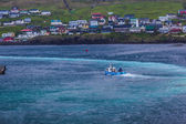 Small boat at Thorshavn, Faroe Islands — Stock Photo
