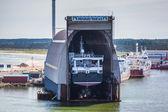 Dockyard at Hirtshals, Denmark — Stock Photo