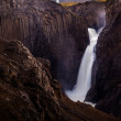 Waterfall on Iceland — Stock Photo