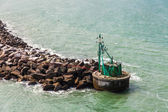 Green buoy in Denmark — Stockfoto