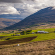 Farm in a valley on Iceland — Stockfoto