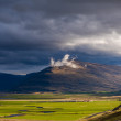 White cloud on a mountain on Iceland — Stock Photo