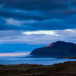 Stock Photo: Fjord at sunset on Iceland