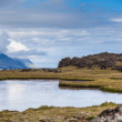 Pond on Iceland — Stock Photo