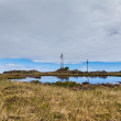 Transmitter mast on Iceland — Stock Photo