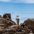Brown lighthouse on Iceland — Stock Photo