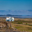 Stock Photo: Blue house near Djupivogur, Iceland