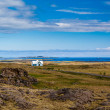 Blue house near Djupivogur, Iceland — Stock Photo