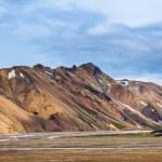 Brown mountains in Landmannalaugar, Iceland — Stock Photo