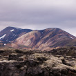 Stock Photo: Mountains and lava field on Iceland