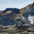 Mountains and lava field on Iceland — Stock Photo
