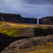 Hengifoss waterfall on Iceland — Stock Photo