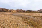 River in a valley in Landmannalaugar — Stock Photo