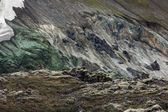 Gray mountainside in Landmannalaugar, Iceland — Stock Photo