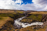 River at Hengifoss in Iceland — Stock Photo