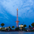 Illuminated Berlin radio tower — Stock Photo