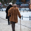 Two elderly ladies in Berlin — Stock Photo