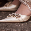 Bridal shoes — Stock Photo