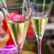 Stock Photo: Champaign flutes
