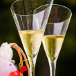 Champaign flutes — Stock Photo