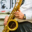 Saxophone player — Stock fotografie